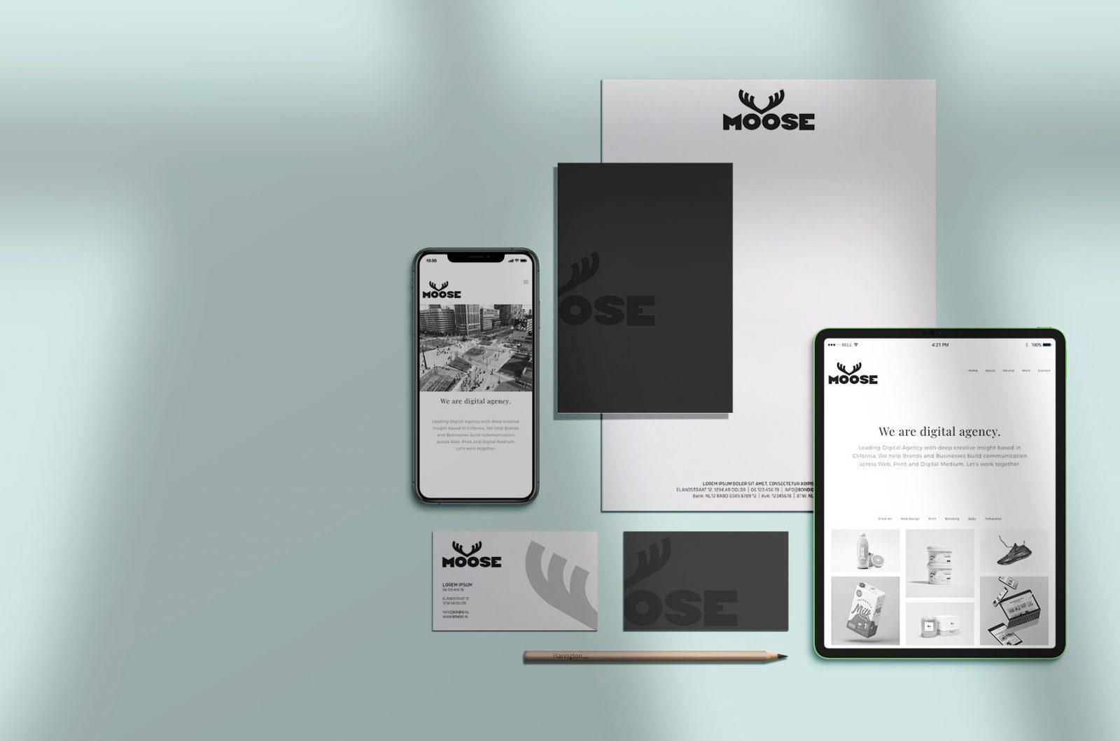 Online Huisstijl pakket: een complete huisstijl ontworpen door top-designers klaar voor onmiddellijk gebruik in al uw communicatie, zowel digitaal als in print